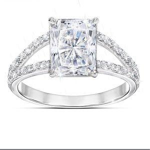 Diamonesk Ring w/ 7.5 Carat Radiant Centerpiece